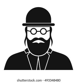 Orthodox jew icon in simple style on a white background vector illustration