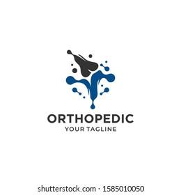 Orthopedic health logo design vector template