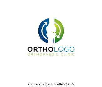 orthopedic human bone joint treatment diagnostic logo