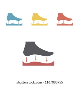 Orthopedic insoles icon isolated on white background. Vector signs