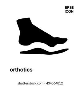Orthopedic insoles icon isolated on white background