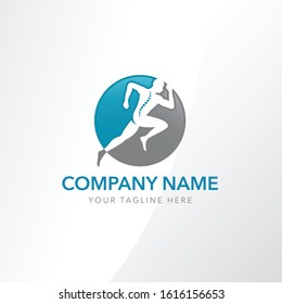 Orthopedic logo or chiropractic wellness logo.