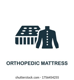 Orthopedic Mattress icon. Simple element from trauma rehabilitation collection. Creative Orthopedic Mattress icon for web design, templates, infographics and more