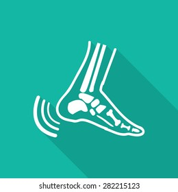 Orthopedic  symbol icon with long shadow.