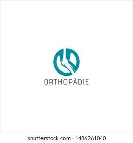 orthopedics, doctor, knee  logo design concept
