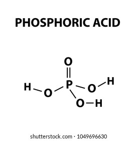 orthophosphoric acid. The chemical formula of Phosphoric acid. Infographics. Vector illustration on isolated background.
