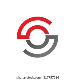 OS SO initial company circle S logo red