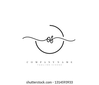 OS initial handwriting logo template vector
