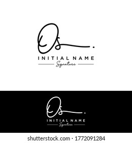 OS Initial letter handwriting and signature logo.