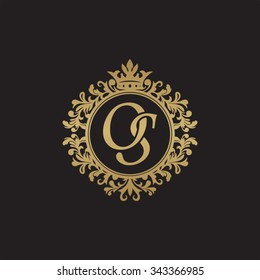 OS initial luxury ornament monogram logo