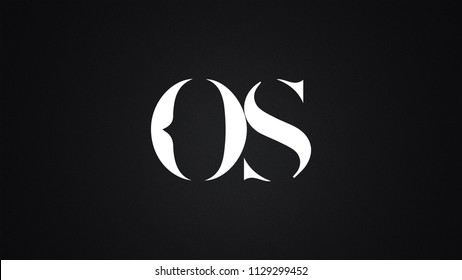 OS Letter Logo Design Template Vector