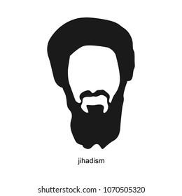 Osama Bin Laden. Vector Hairstyle PortraitIllustration. April 17, 2018.