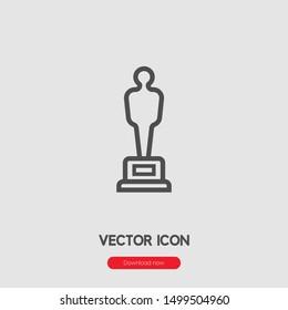 Oscar icon vector. Oscar symbol. Linear style sign for mobile concept and web design. Oscar symbol illustration. Pixel vector graphics - Vector.