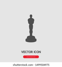 Oscar icon vector. Trophy symbol. Linear style sign for mobile concept and web design. statue symbol illustration. Pixel vector graphics - Vector.
