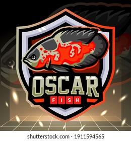 Oscar tiger fish mascot. esport logo design