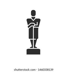 Oscar vector icon. Linear style sign for mobile concept and web design. Oscar symbol logo illustration. vector graphics - Vector.