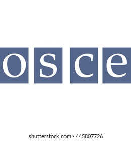 OSCE Organization for Security and Co-operation in Europe vector sign for print or website design