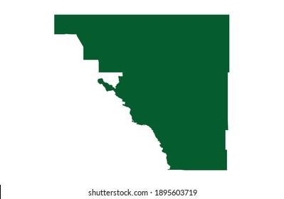 Osceola, Florida  USA - 2020: Osceola County Florida Boundary Border Geography Spatially Accurate