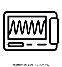 Oscillograph equipment icon. Outline oscillograph equipment vector icon for web design isolated on white background