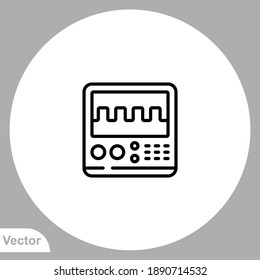 oscillograph icon sign vector,Symbol, logo illustration for web and mobile
