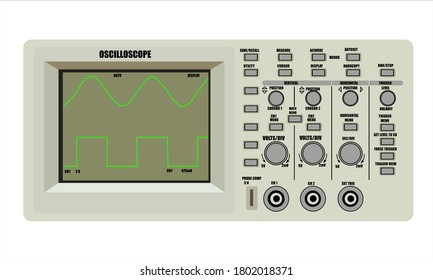 Oscilloscope electronic device and sine wave