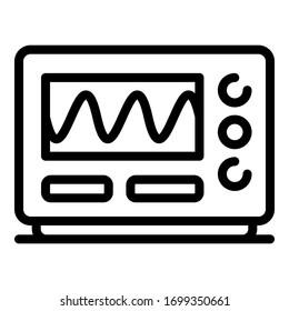 Oscilloscope icon. Outline oscilloscope vector icon for web design isolated on white background