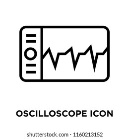 Oscilloscope icon vector isolated on white background, Oscilloscope transparent sign , linear symbol and stroke design elements in outline style
