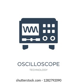 oscilloscope icon vector on white background, oscilloscope trendy filled icons from Technology collection, oscilloscope vector illustration