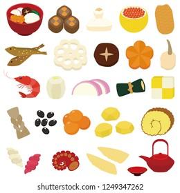 osechi(Japanese traditional dishes)