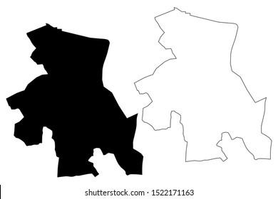 Osh City Region (Kyrgyz Republic, Kirghizia, Regions of Kyrgyzstan) map vector illustration, scribble sketch Osh map