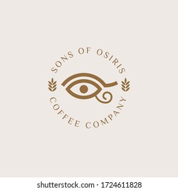 Osiris logo, coffee product logo