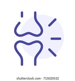 Osteoporosis vector icon, abstract bones joint sign