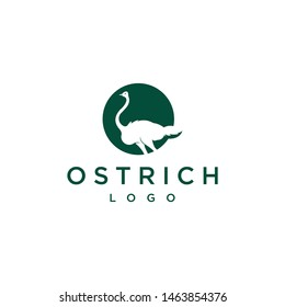 Ostrich simple logo design vector graphic template illustration