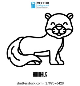 Otter icon, outline vector. Animal concept. Eps 10 vector illustration.