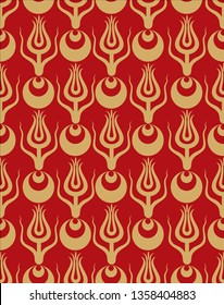 Ottoman carnation and tulip figure textile design. It can be used as wallpaper, gift or wrapping paper, notebook cover, background card for gift card, background print for table or poster.