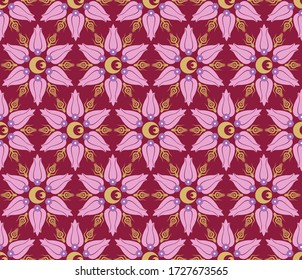 Ottoman carnation and tulip figure textile or wallpaper design. It can be used as gift or wrapping paper, notebook cover, background card for gift card, background print table or poster.