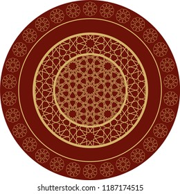 ottoman circular ethnic pattern vector drawing. Poster, logo, emblem, icon, avatar, wall decoration, table design, artistic events can be used as a pattern.