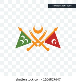 ottoman empire vector icon isolated on transparent background, ottoman empire logo concept