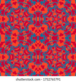 Ottoman mosque seamless pattern graphic design. Middle east floral tile ornament. Mosaic oriental seamless pattern. Traditional islamic abstract flower geometric ornament. Tiled oriental elements.