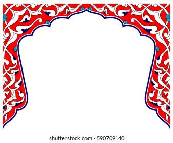 Ottoman Rumi Motif. Corner Pattern.