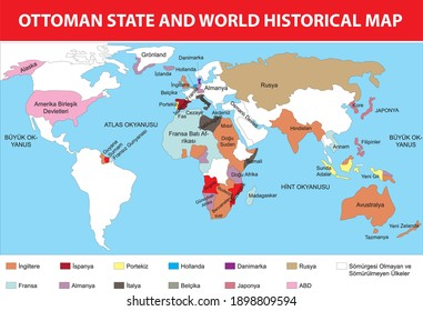ottoman state and world historical map turkish history