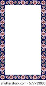 Ottoman Tile Motif Frame
