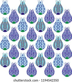 Ottoman tulip figure pattern. It can be used as wallpaper, gift or wrapping paper, notebook cover, background card for gift card, background print for table or poster. Fabric, textile design.