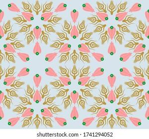 Ottoman tulip figure textile or wallpaper design.