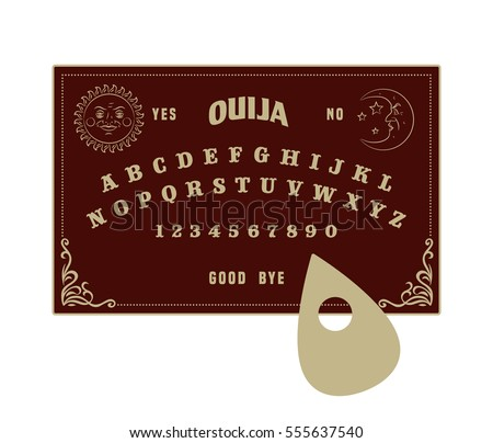 Ouija Board Stock Vector Royalty Free 555637540 Shutterstock