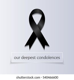 Our Deepest Condolences. A sympathetic condolence card design for someone mourning the death of the loved one