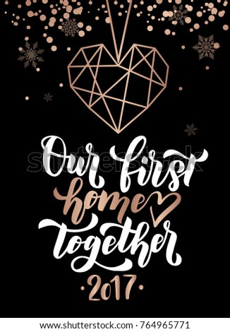our first home together merry christmas stock vector royalty free