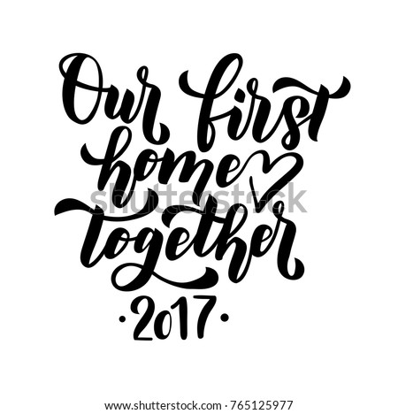 our first home together merry christmas happy stock vector royalty