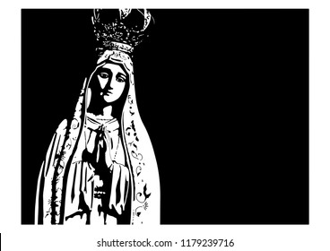 Our Lady of Fatima catholic vector