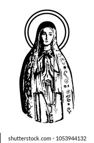 our lady of Fatima vector